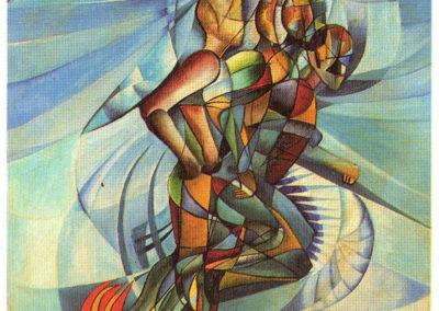 corona il corridore 1923 olio su tela cm 70x50 pubbl cat futurismo a cura di e.crispolti