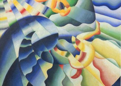 corona onda marina+sirene del mare 1926 olio su tela cm 190x190 pul. cat futurismi a cura di e crispolti