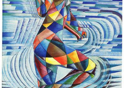 corona tedoforo olio su tela 1921 cm 160x80 publ catfuturism a cura di m. scudiero