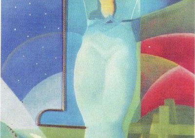 d'anna lamadonnina nell'aria 1934 polimaterico su tavola cat futurismo ed mazzotta di e.crispolti