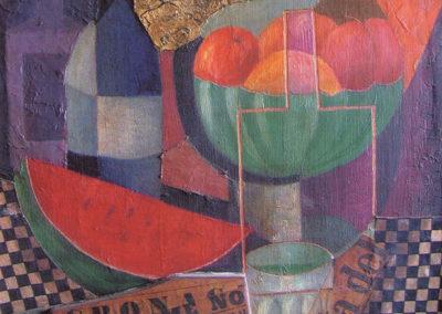 d'anna natura morta -che cosa significa l'arte moderna- 1952 olio e assemblaggi su tavola pubbl cat giulio d'anna ed eidos