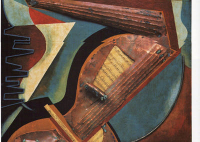 d'anna scomposizione di chitarra, 1931, polimaterico su tavola pubbl cat giulio d'anna ed eidos