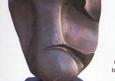 d'anna testa 1933 pietra dipinta pubbl cat giulio d'anna ed eidos