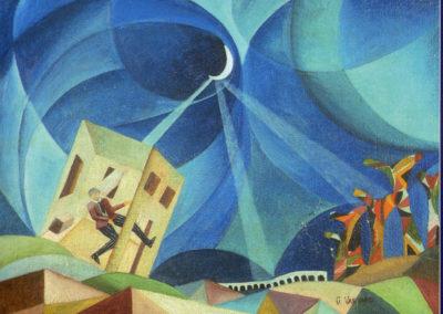 Emozioni musicali (la casa balla) olio su tela 40x54 1928ca cat emozioni sospese ed eidos 2004 a cura di anna maria ruta