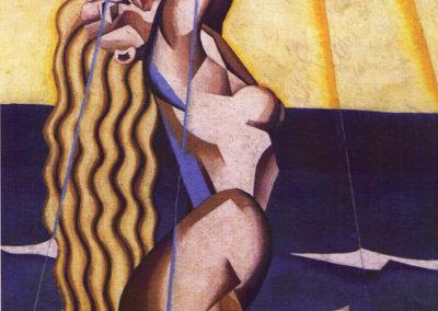 rizzo nudo al sole 1929 cm 70x45,5 lio su tela pubbl cat pippo rizzo a cura di a. ruta pubbl cat futurismo a cura di enrico crispolti