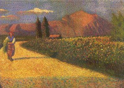 rizzo paesaggio siciliano 1921 olio su tela cm 67x121 pubbl cat pippo rizzo a cura di a. ruta
