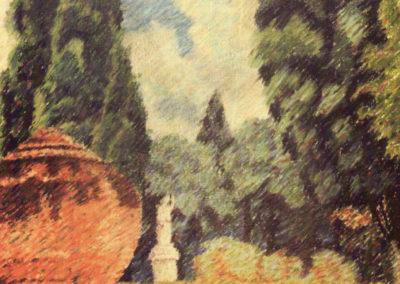 rizzo parco dei daini 1919 pastelli su carta cm 62x44 pubbl cat pippo rizzo a cura di a. ruta