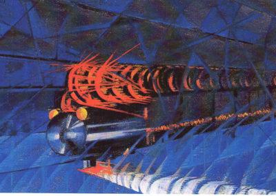 rizzo treno notturno in corsa 1926 olio su tela cm 57x107 pubbl cat pippo rizzo a cura di a. ruta